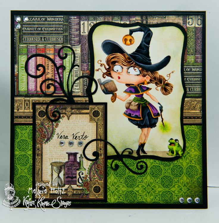 Witch Willa from the new July release at Kraftin' Kimmie Stamps!