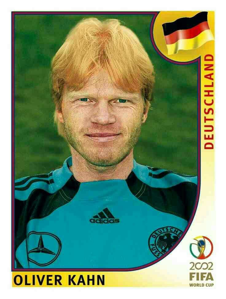 Oliver Khan of Germany. 2002 World Cup Finals card.