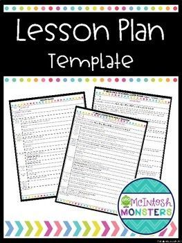 Hi there! I have created a free lesson plan template that you can use in your classroom. I hope you love it!