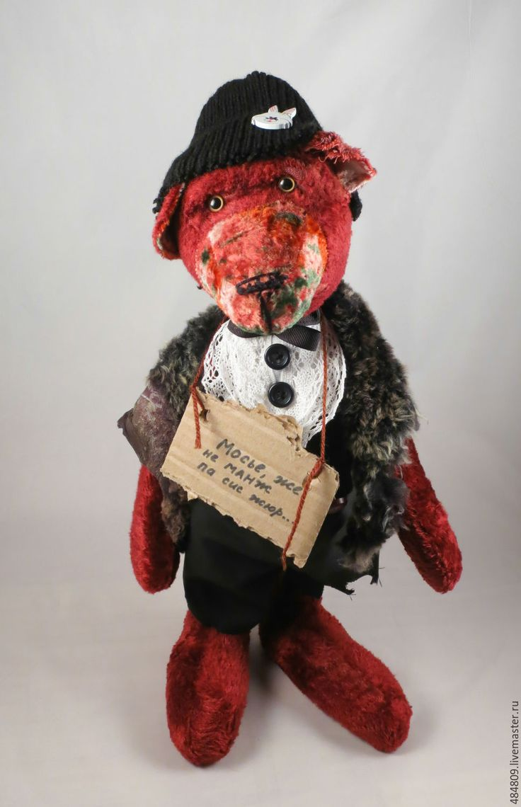"Купить Медведь тэдди "" Мосье..."" - бордовый, медведь, медведи тедди, медведик, тэдди"