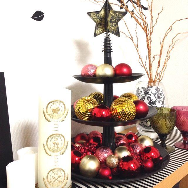 キャンドル/コジオル/ニトリ/モノトーン/しましま/クリスマス…などのインテリア実例 - 2013-11-25 20:26:06   RoomClip(ルームクリップ)