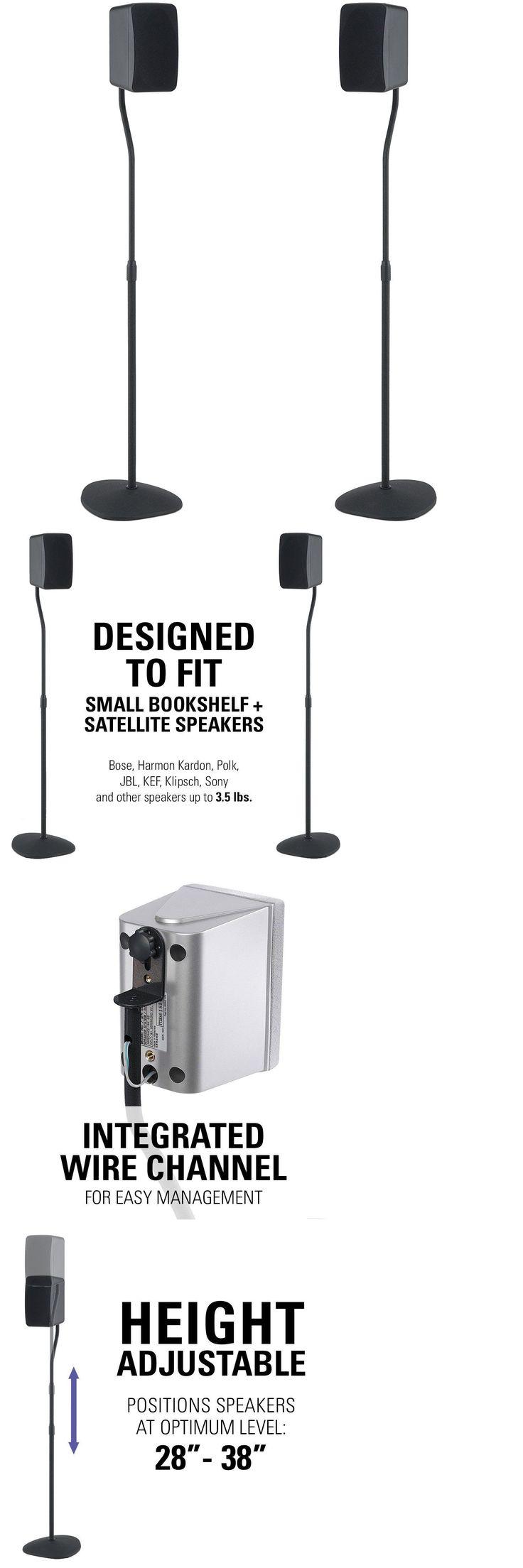 speaker mounts and stands sanus adjustable height speaker stand extends 28 to 38 new - Sanus Speaker Stands