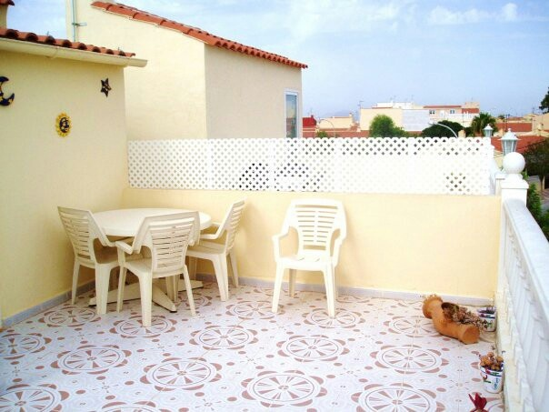 Sun roof terrace at our Spanish house.  Facebook /Low Cost Alicante Holiday Self Catering