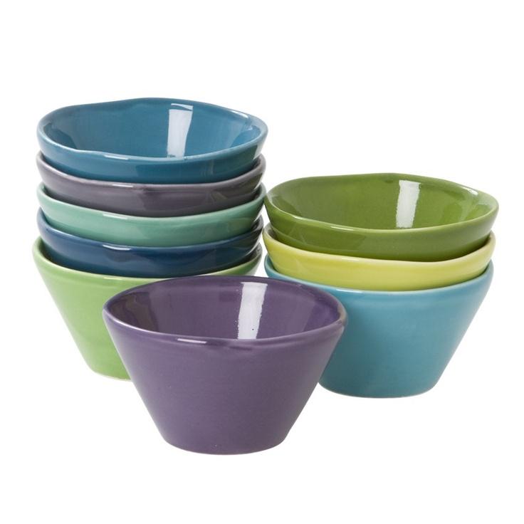 Blue & Green Dipping Bowls <3<3