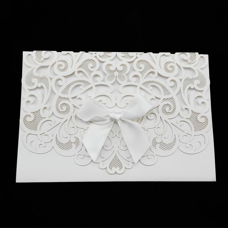 Wedding Invitation Cards Elegant White Laser Cut Out Paper Lace Wedding Invitations 20pcs/Lot-in Event & Party Supplies from Home & Garden on Aliexpress.com | Alibaba Group
