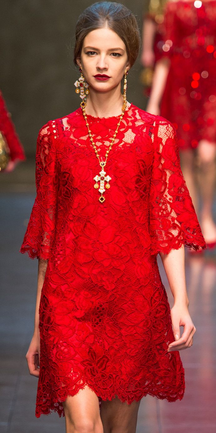 Sumptuous but wearable. Dolce & Gabbana at its best. (Dolce & Gabbana | Fall 2013 RTW)