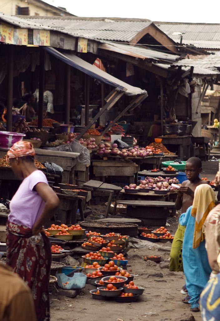 The Boundary Market, Lagos, Nigeria Farms & Food Markets