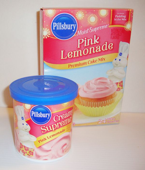 Pink Lemonade And Lemonade Cookies From Cake Mix