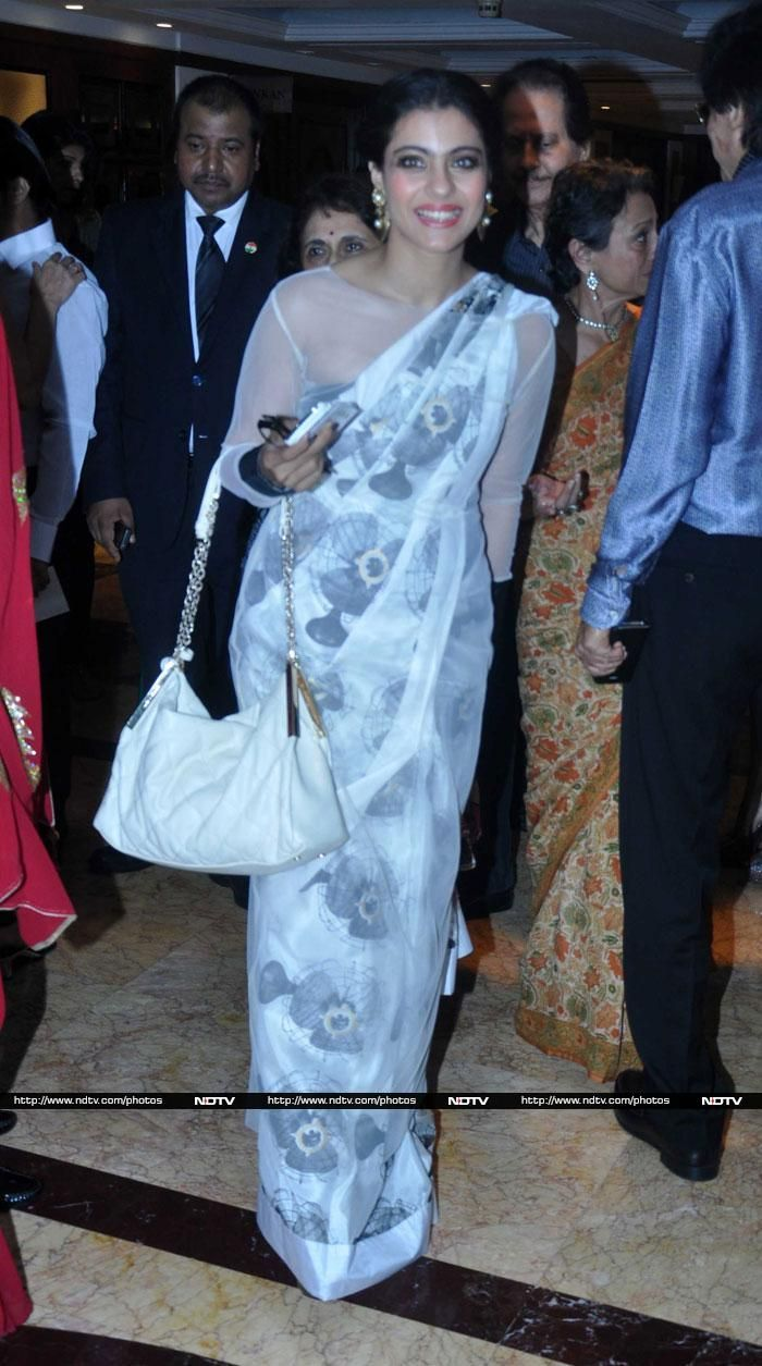 Bollywood actress Kajol attended her sister Tanisha's play performance in Mumbai