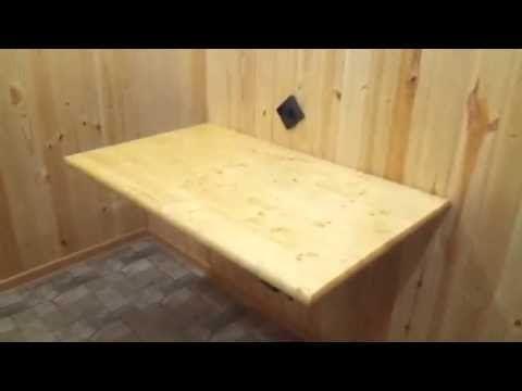 Откидной стол #своими руками - YouTube