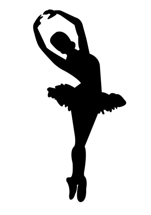 Картинка балерины рисунок силуэт