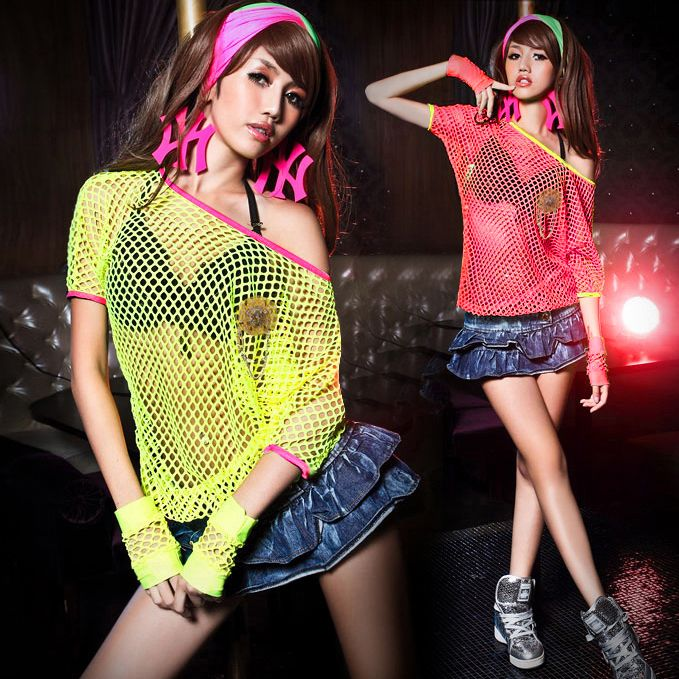 Aliexpress.com  Buy hip hop performers fluorescent color hollow collar dancer singer bar night ...