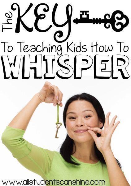 Teaching kids to whisper