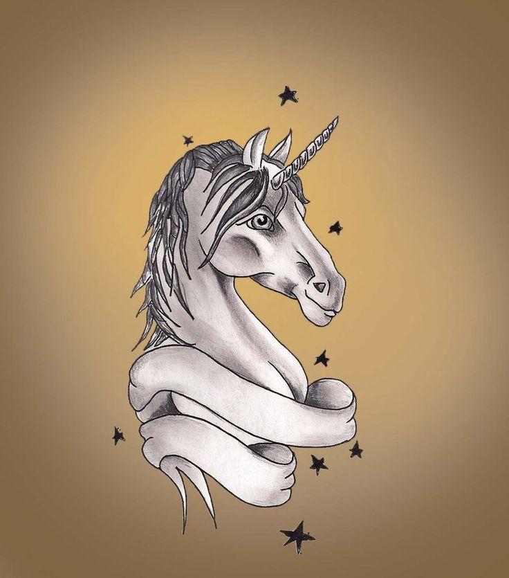 realistic unicorn tattoo - 900×1021