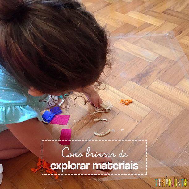 Veja como deixar uma criança brincar de explorar materiais pode ser divertido e estimulante, sem que você precise gastar muito dinheiro.