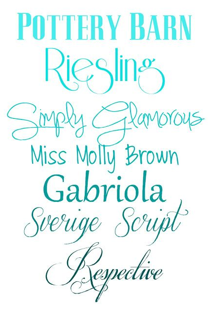 Favorite New Fonts