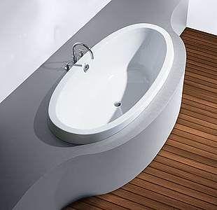 HoeschMedici Oval- Badewanneaus Acryl, weiß Diese Wanne ist geeignet zum Einmauern und späteren ......