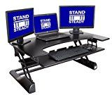 "FlexPro Precision 41"" Standing Desk by Award-Winning Stand Steady + FREE Standing Desk Guide! 
