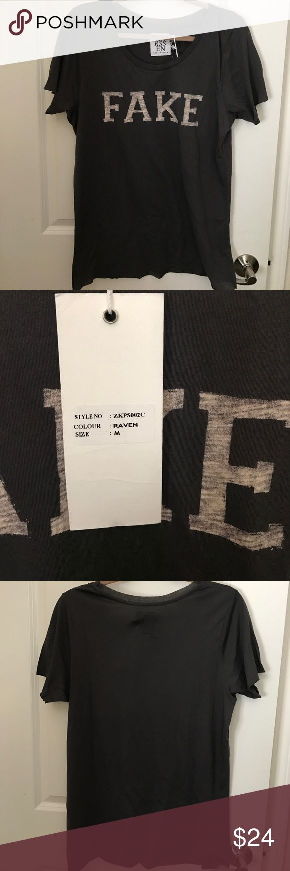 New Zoe Karssen Fake  Tee  M Super cute! Brand new with tags. Size medium. Please let me know if you have any questions  Zoe Karssen Tops Tees - Short Sleeve