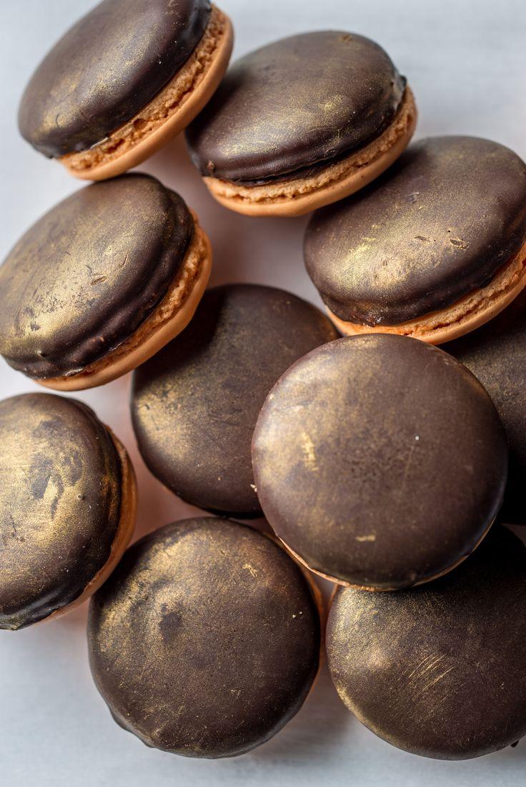 Jaffa Cake macarons by Graham Hornigold