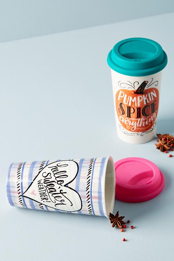 Sweater weather, pumpkin spice anything - and a mug that reminds me of fall year round! Autumn Travel Mug
