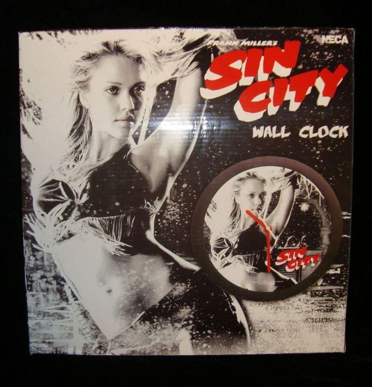 SIN CITY-NANCY 12' WALL CLOCK-JESSICA ALBA-BAR DANCE OUTFIT-NECA-NEW-MARV'S PAL!
