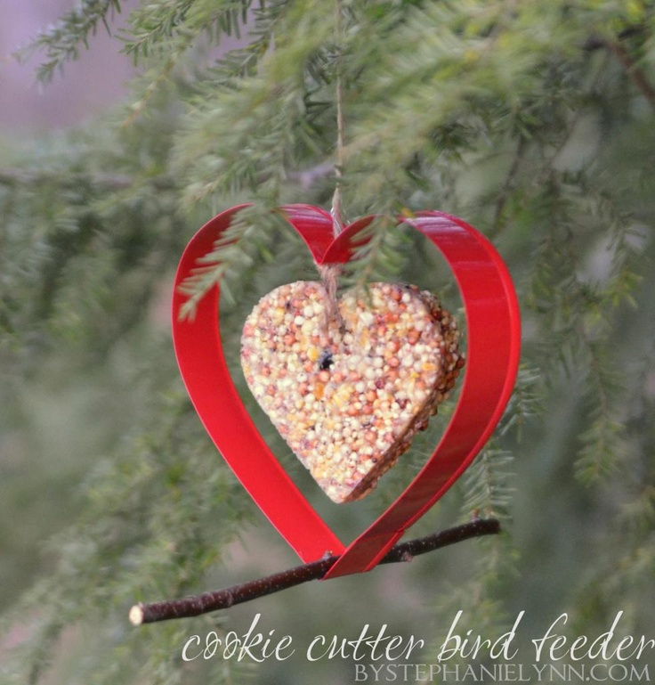 Under The Table and Dreaming: Make Your Own Hanging Cookie Cutter Bird Feeder | Homemade Bird Seed Cakes