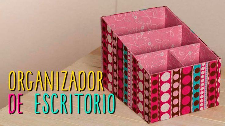 Organizador de Escritorio de Cartón - Regreso a Clases - DIY
