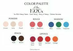 Color for makeup of 1920