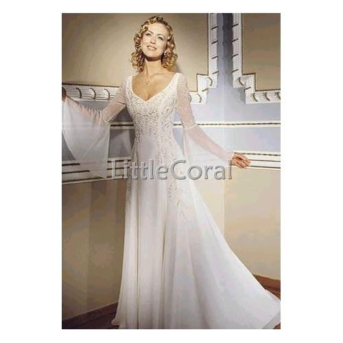 Bell sleeve wedding dress for Bell sleeve wedding dress