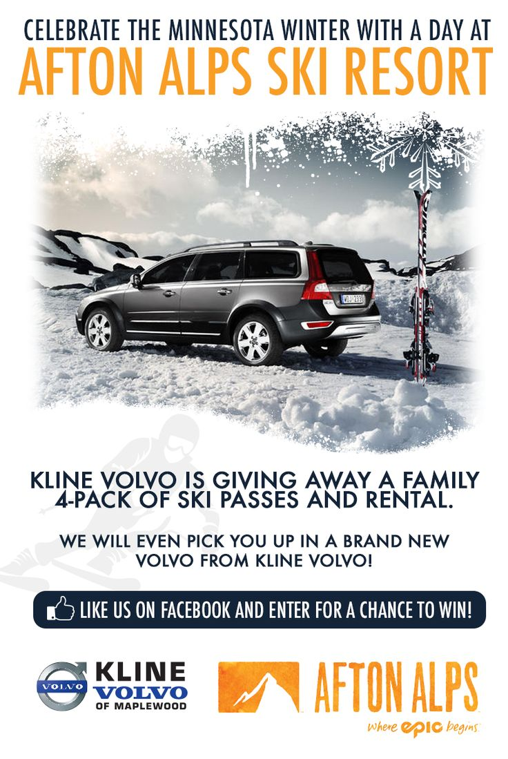 Celebrate the minnesota winter with a day at afton alps kline volvo is giving away
