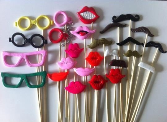 Fun photo booth props for your next event. Great fun for all ages.
