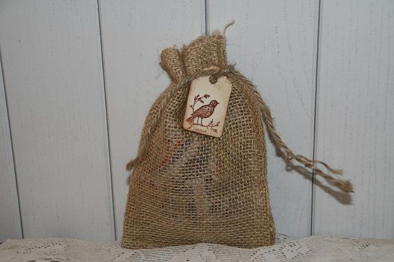 100 Burlap Bags Wedding Favors with Tag  by GreenAcresCottage, $49.00
