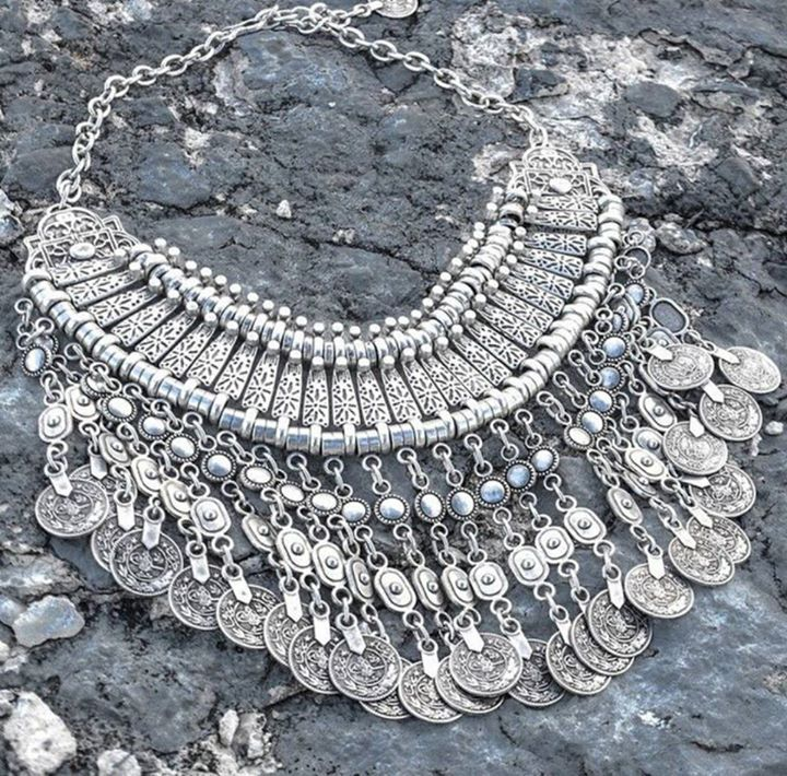 Turkish silver necklace.