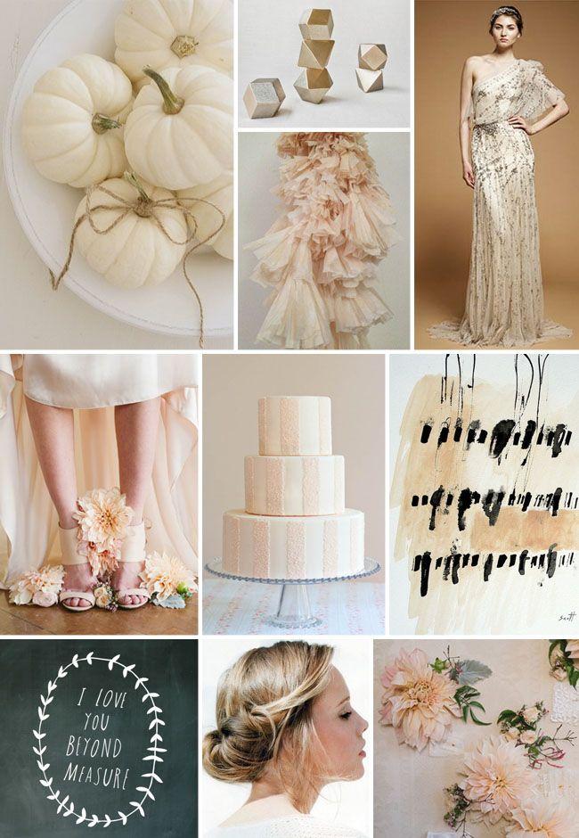 Inspiration Board #46: White Pumpkins + Blush Dahlias
