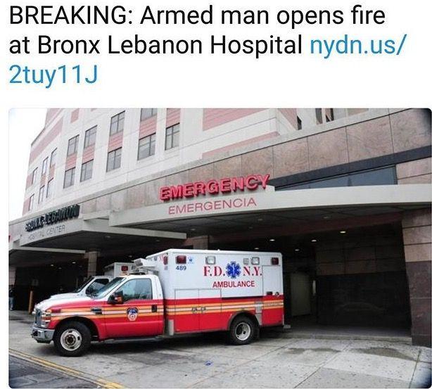 #PRAYERS 🙏🏽🙏🏽😢 BREAKING Multiple People Shot Inside Bronx-Lebanon Hospital. SUSPECT AT BRONX LEBANON HOSPITAL ARMED WITH M16, WEARING A WHITE LAB COAT GUNMEN IS DEAD FRIDAY JUNE 30, 2017 FORMER EMPLOYEE #BreakingNews #breaking #bronx #bronxlebanonhospital #bronxshooting #Gunmen #Bronx #NewYorkCity #NYC #Hosiptal #Lebanonhospital
