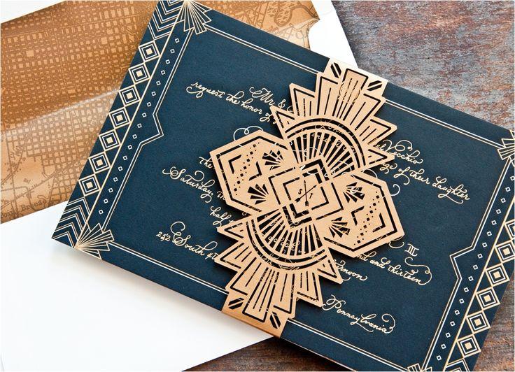 Gorgeous The Best Art Deco Wedding Invitations Ideas For You https://bridalore.com/2017/12/16/the-best-art-deco-wedding-invitations-ideas-for-you/