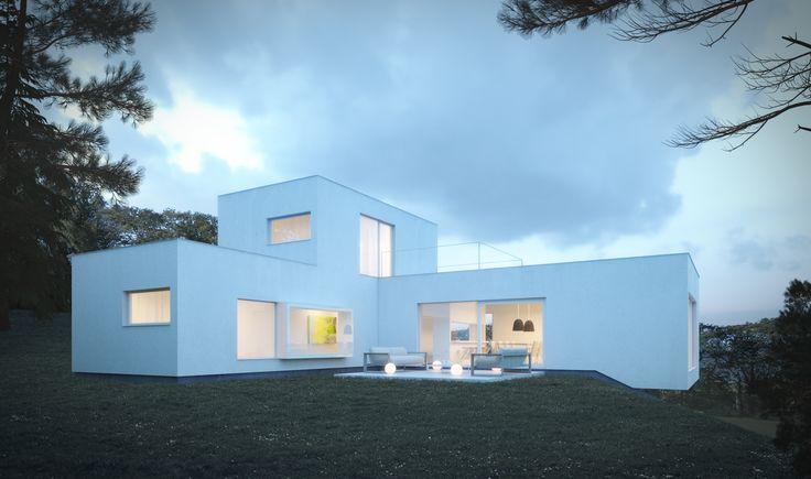 Maison unifamiliale Architecte: www.qbri.be Image: www.perspectif.be