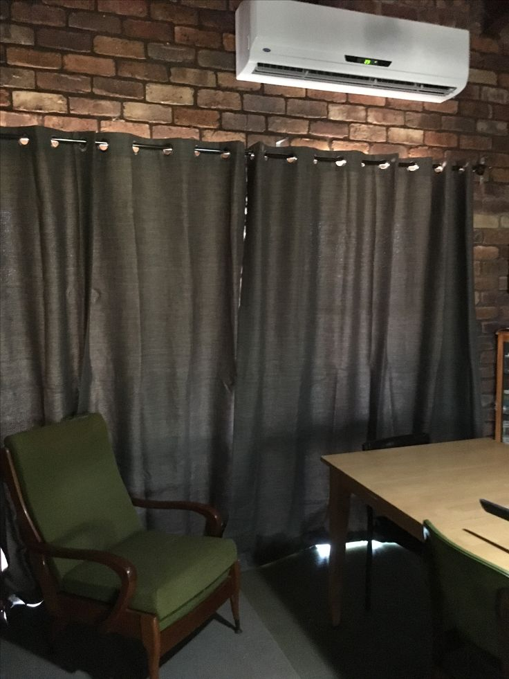 New Block out curtains for the dining room. Hung on the hottest day ever in NSW. 12/2/17