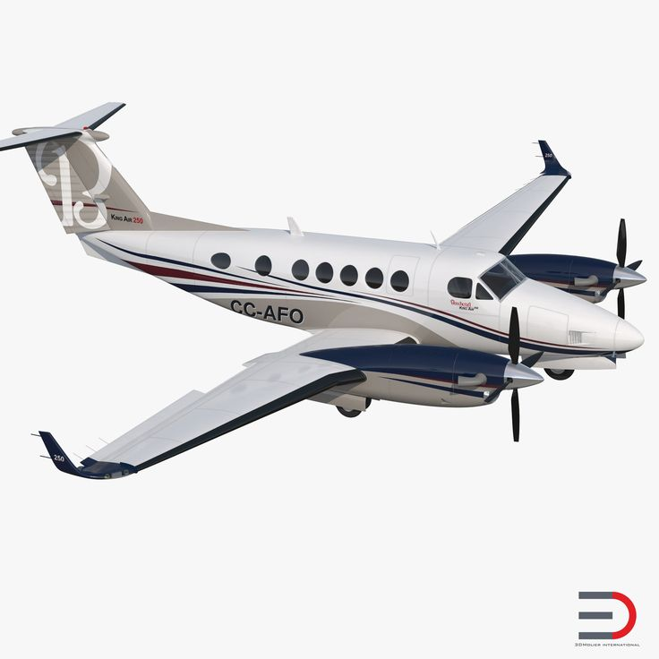 3D model Civil Utility Aircraft Beechcraft Super King Air 250EP Rigged