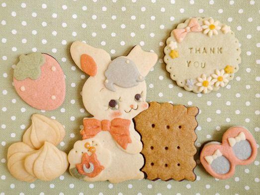 乙女なクッキー「乙女な兎」の紹介の画像 | 絵本なお菓子sai*の絵本なクッキー