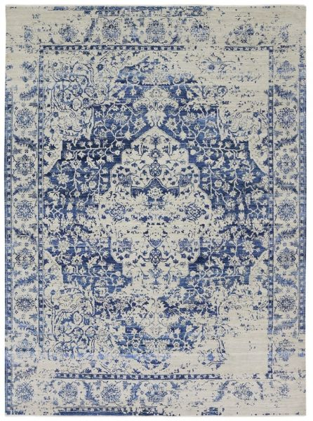 4172 Contemporary Rug Royal Collection Ivory Blue 244x295cm