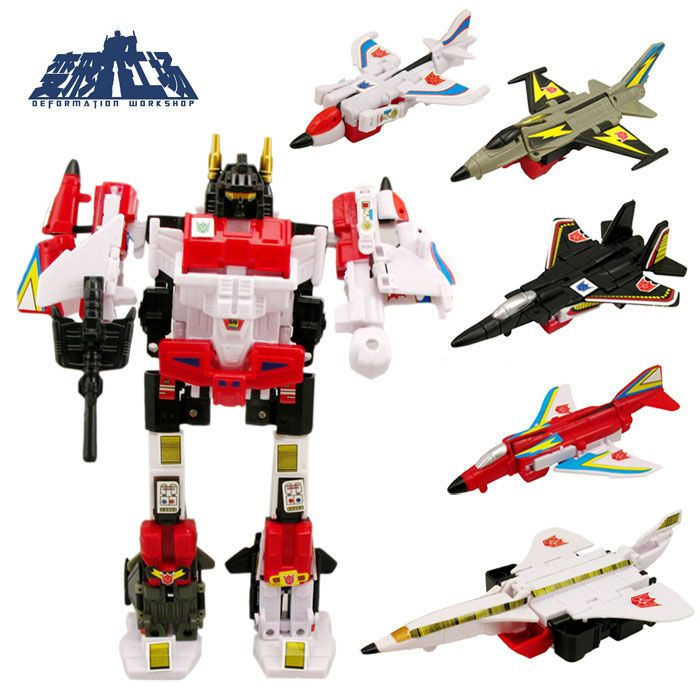 the deformation workshop version of flight 5 aircraft taibao fearless combination fit transformers children's toys #transformer