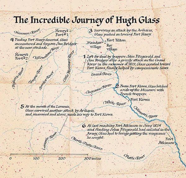 Hugh Glass Map