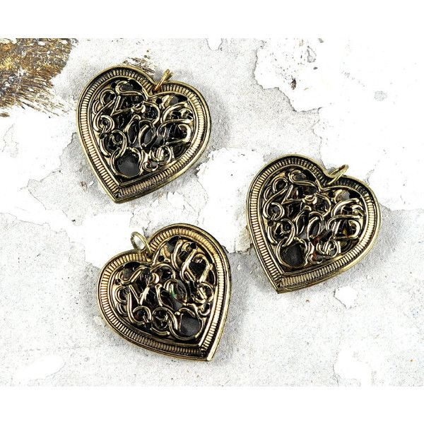 Gold Filigree Metal Heart Pendant ($2.95) ❤ liked on Polyvore featuring jewelry, pendants, metal jewellery, yellow gold heart pendant, filigree heart pendant, metal pendant and gold jewelry