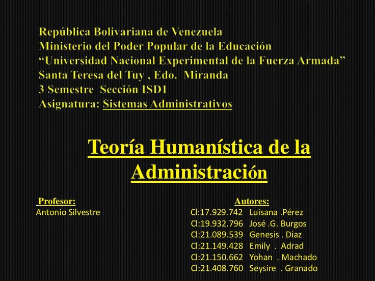 Teoría Humanista by Antuan  Ferry via slideshare
