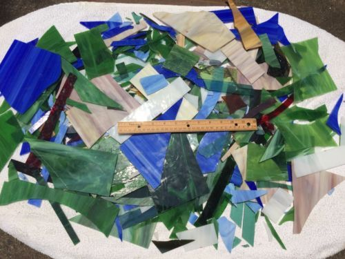 13-LBS-STAINED-GLASS-SCRAPS-MOSAIC-ART-SUPPLIES-SUNCATCHER-COLORS-PIECES-KIT