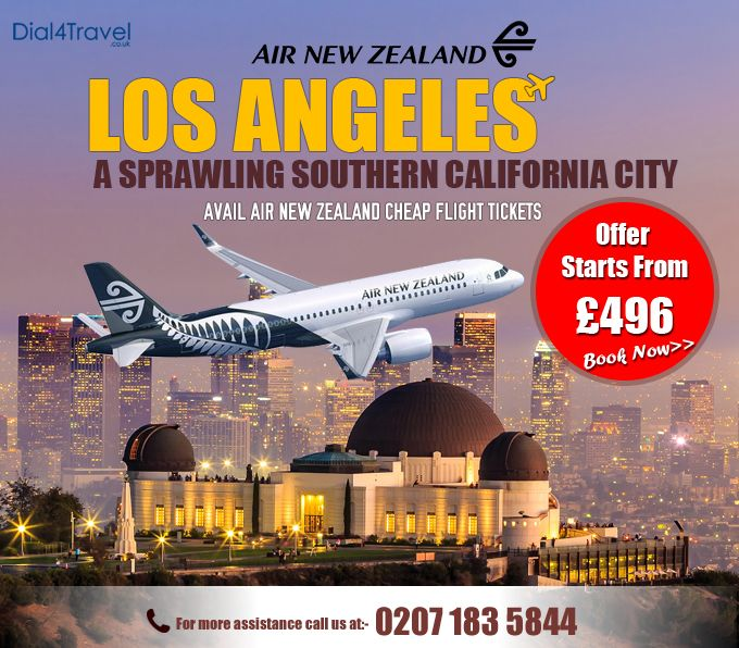 Avail tickets for the sprawling Southern California City – #LosAngeles and explore the beautiful attractions of the place. The journey will leave travelers with a great impression. So, get in touch with #Dial4Travel to get #CheapFlights. Call at: 0207 183 5844