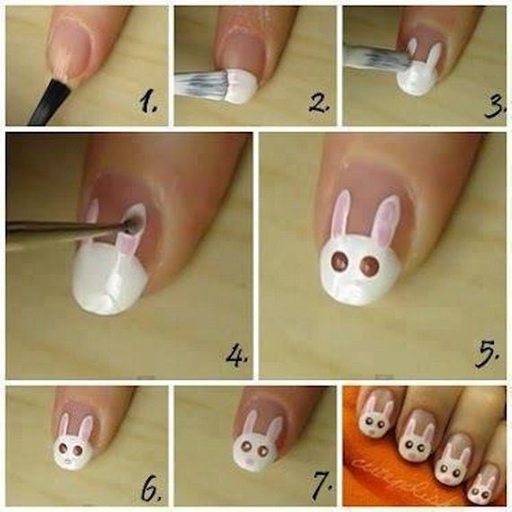 Easter Bunny Nail Art: Cute Easy Easter Bunny Nail Ideas. Easter Nails? I Think