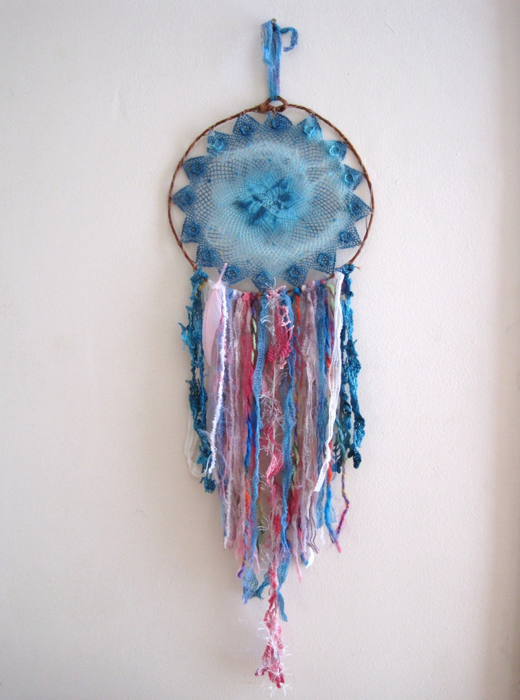 handmade OOAK dream catcher mandala fiber art hippie wall ... - photo#17